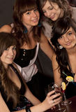 Girls with coctail Royalty Free Stock Photo