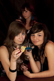 Girls with coctail Stock Image