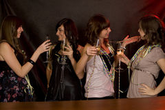 Girls with coctail on a party Stock Image