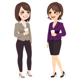 Girls Coffee Break Stock Photos