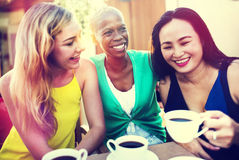 Girls Coffee Break Talking Chilling Concept Royalty Free Stock Photo