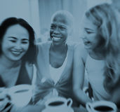 Girls Coffee Break Talking Chilling Concept Stock Image