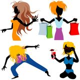 Girls collection vector illustration