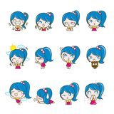 Girls Collection Set, Vector and illustrations Stock Photos