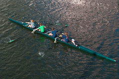 Girls collegiate rowing team Stock Photo
