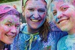 Girls, Colorful, Smile, Funny Royalty Free Stock Image