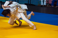 Girls compete in Judo Stock Images
