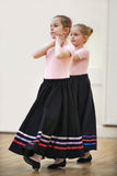 Girls In Costume During Character Ballet Dancing Class Royalty Free Stock Photo