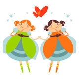 Girls couple Royalty Free Stock Photography