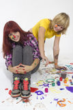 Girls in a creative Royalty Free Stock Image
