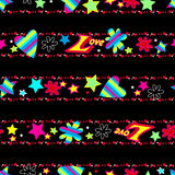 Girls cute Love sequin seamless pattern Royalty Free Stock Photos
