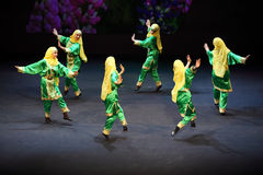 Girls dance at concert of Gennady Ledyakh School Royalty Free Stock Images