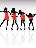 Girls dancing Stock Image