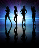 Girls dancing. At a club Royalty Free Stock Images