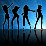 Girls dancing. At a night club Royalty Free Stock Image