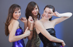 Girls dancing at disco Royalty Free Stock Images