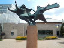 Girls Dancing Sculpture Stock Photo
