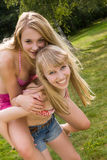 Girls day out in the park Royalty Free Stock Photo