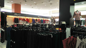 Girls department in shopping mall Stock Image