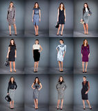 Girls in different clothes Royalty Free Stock Photo