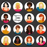 Girls with different hairstyles Royalty Free Stock Image