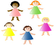 Girls of different nationalities Stock Image