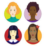 Girls of different races Royalty Free Stock Photos
