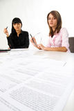 Girls with documents Royalty Free Stock Images