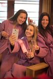 Girls doing Selfy on  bachelorette party Royalty Free Stock Image