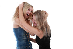 Girls dragged by the hair Royalty Free Stock Photo