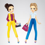 Girls Dressed In Bisness Style Stock Photography
