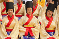 Girls dressed in costume, China Royalty Free Stock Images