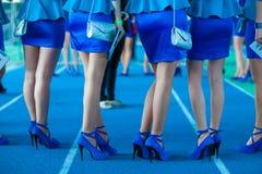 Girls dressed fashionably. Stock Photos