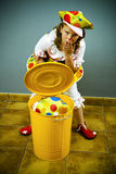 Girls dressed up as clowns Stock Images