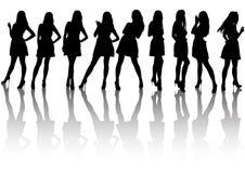Girls in dresses Stock Image