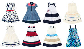Girls dresses isolated on white background. Royalty Free Stock Photos