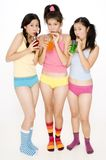 Girls Drinking Stock Images