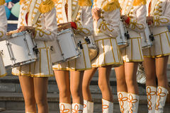 Girls with drums Royalty Free Stock Images