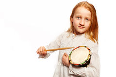 Girls drums Royalty Free Stock Photos