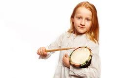 Girls drums Royalty Free Stock Photos