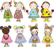 Girls in Easter Royalty Free Stock Photo