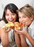 Girls eating Royalty Free Stock Photography