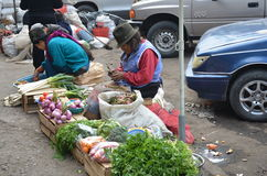 women in a ecuador market Stock Image