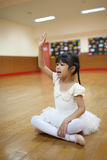 Girls in elementary school, take a course of classical dance. Stock Images