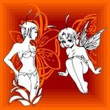 Girls Elfy. Royalty Free Stock Image