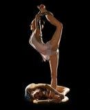 Girls engaged art gymnastic Stock Image