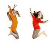 Girls enjoy life Royalty Free Stock Image