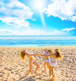 Girls enjoying summer Stock Image