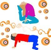 Girls exercising Stock Image