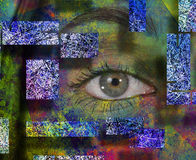 Girls eye with paint Stock Photography